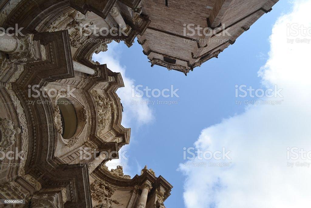 Valencia, particolare della cattedrale stock photo