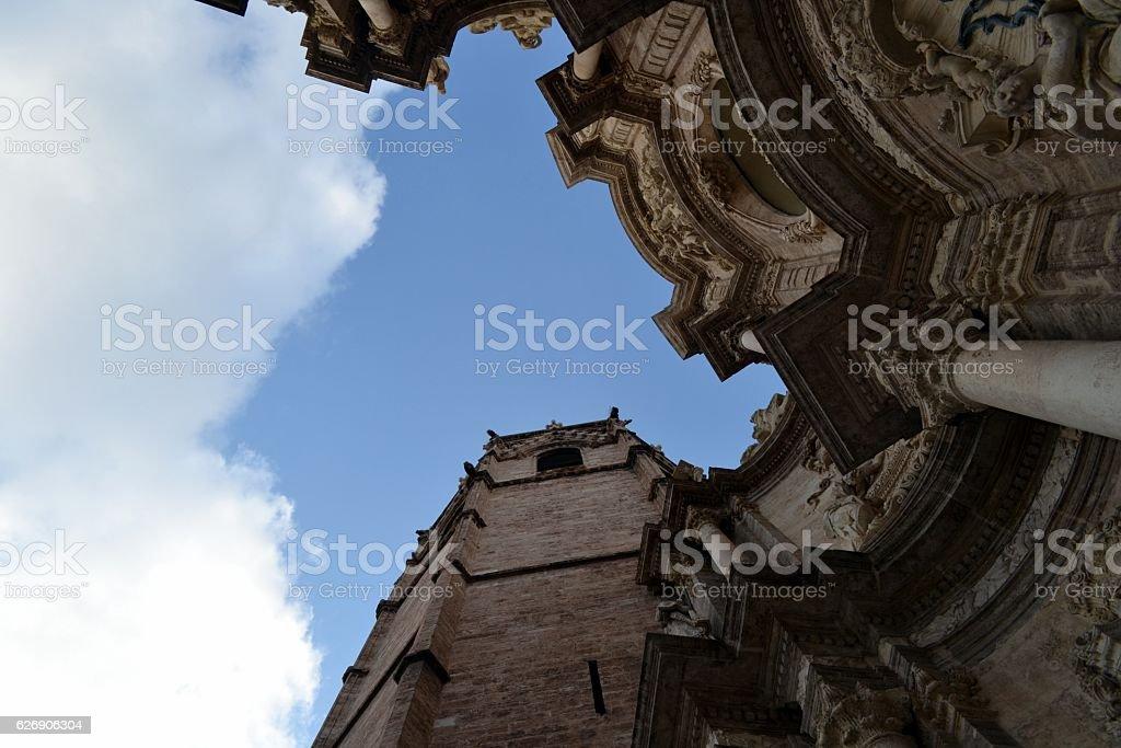 Valencia, articolare della cattedrale stock photo