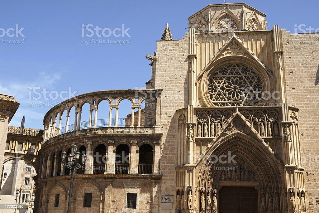 Valencia Cathedral stock photo