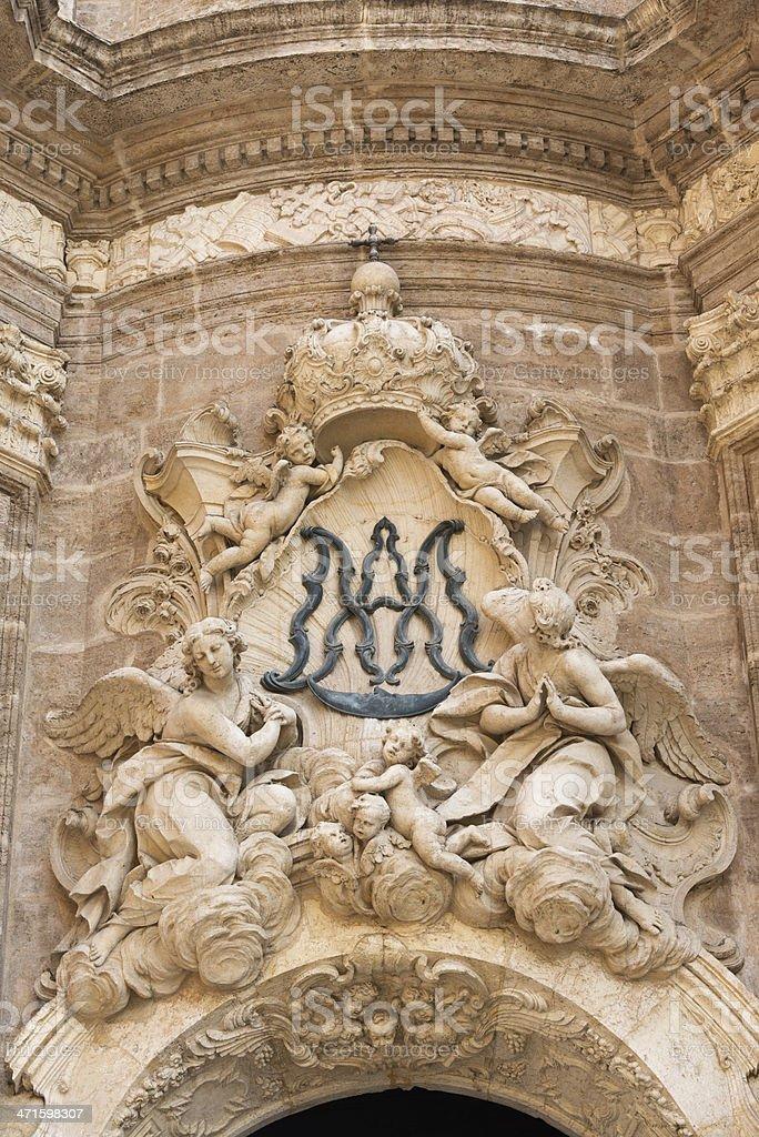 Valencia Cathedral royalty-free stock photo