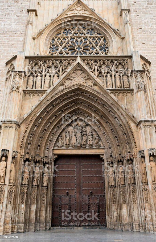 Valencia (Spain), cathedral stock photo