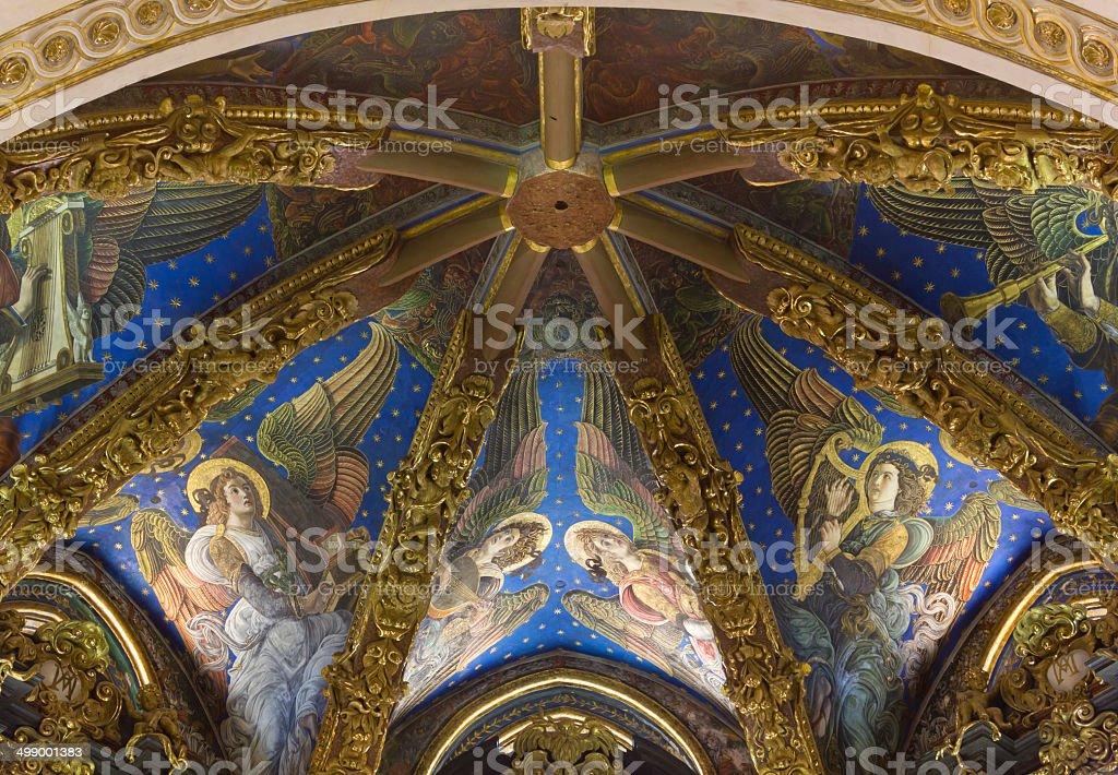 Valencia Cathedral Renaissance Frescoes stock photo