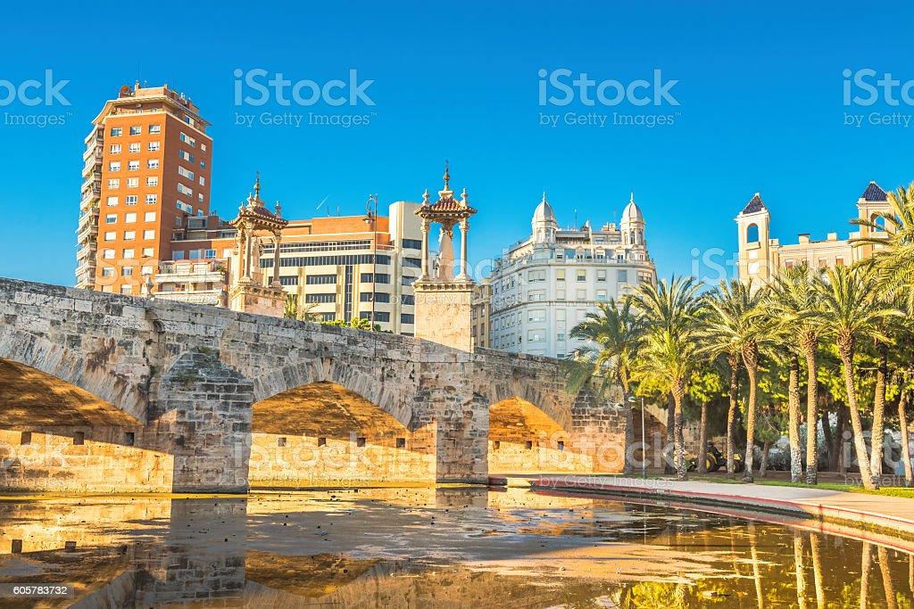 Valencia city in november - shots of Spain - Travel stock photo