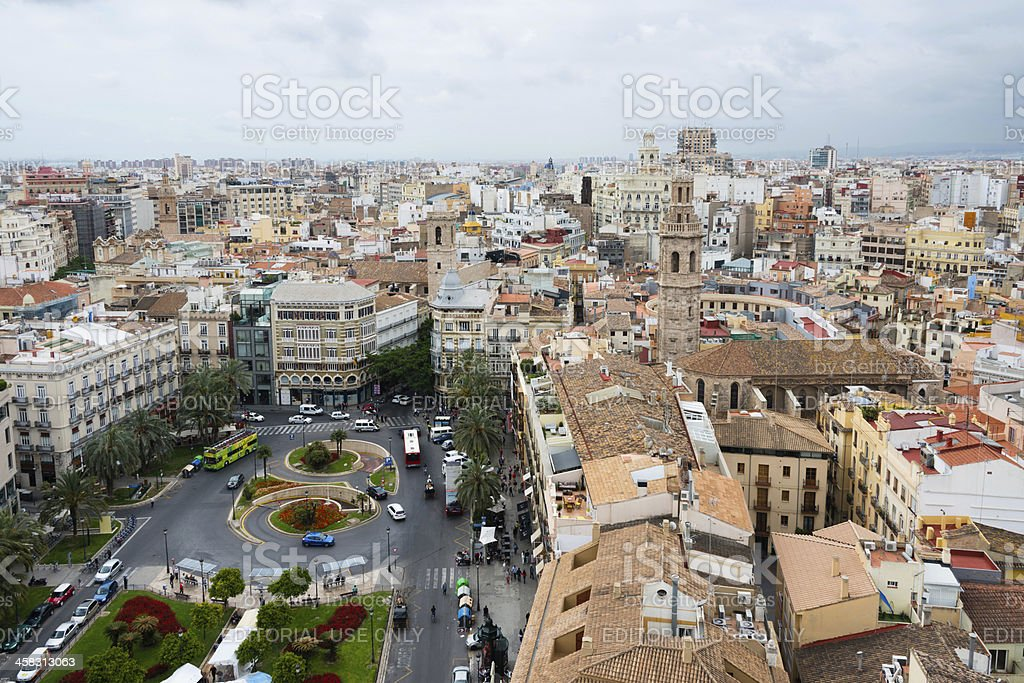Valencia from above stock photo