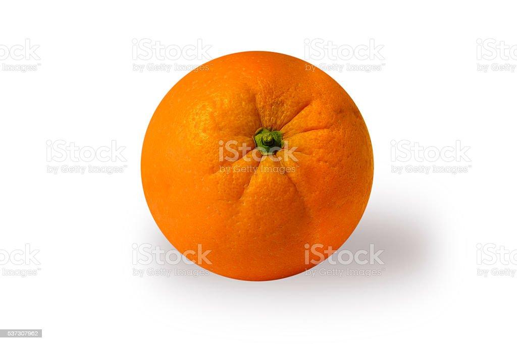 Valencia Orange with clipping path stock photo