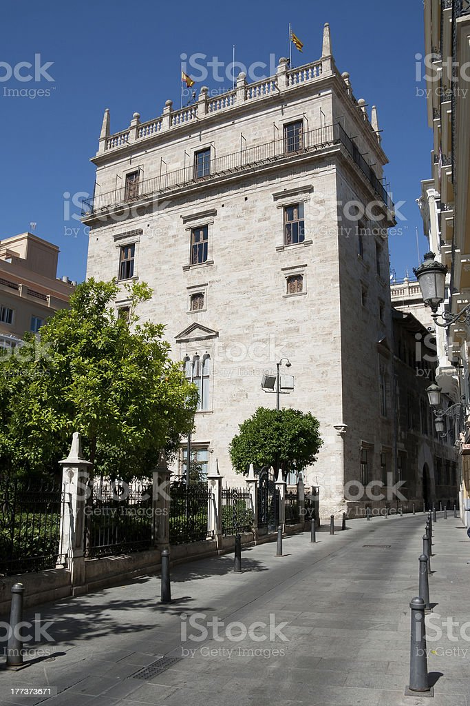 Valencia - Palau de la Generalitat stock photo