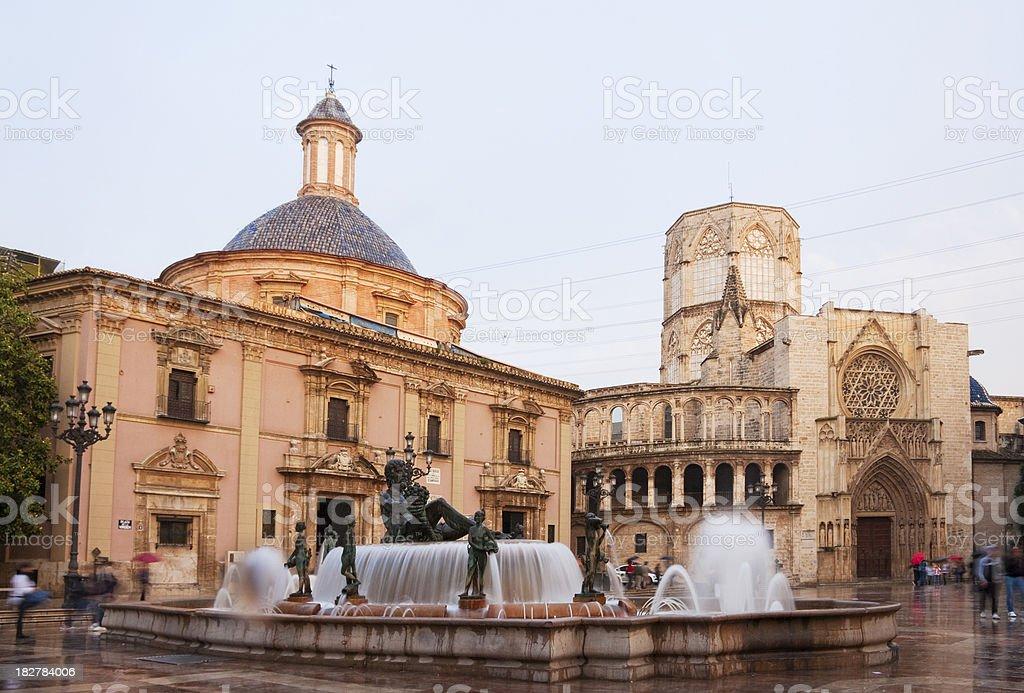 Valencia, Plaza de la virgen stock photo
