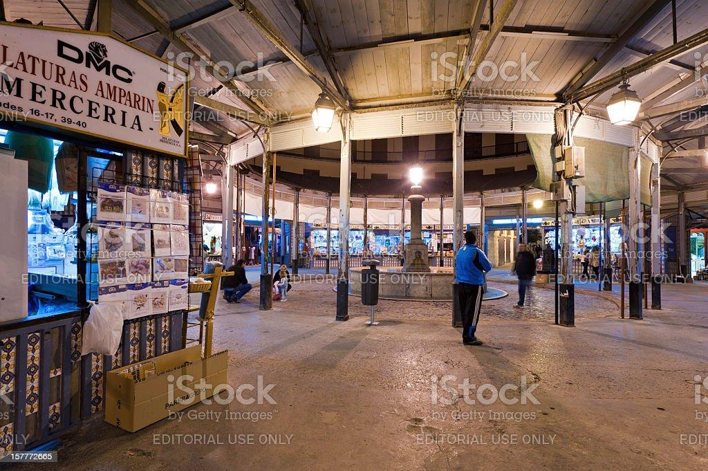 Valencia Plaza Redonda El Clot night market Spain royalty-free stock photo