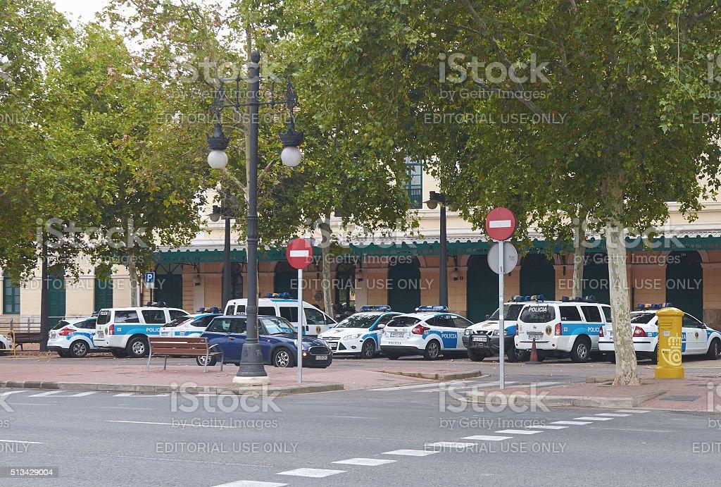 Valencia, Spain, September, 06, 2015, District police station, editorial. stock photo