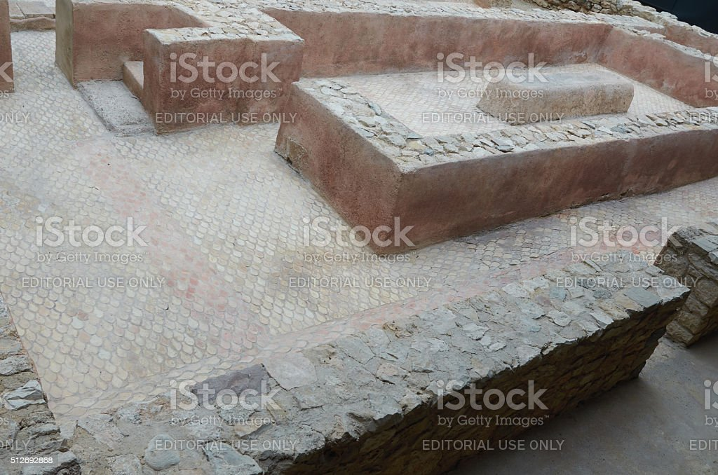 Valencia, Spain, September, 06, 2015, Roman Baths, Archaeological Museum, editorial. stock photo