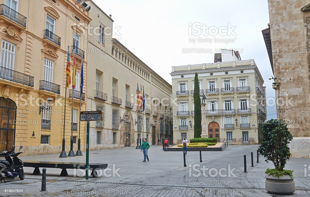 Valencia, Spain, September, 06, 2015, square Manises in Valencia, editorial. stock photo
