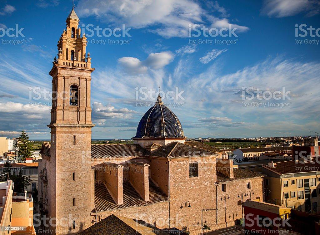 Valencian church. Valencia. Spain stock photo