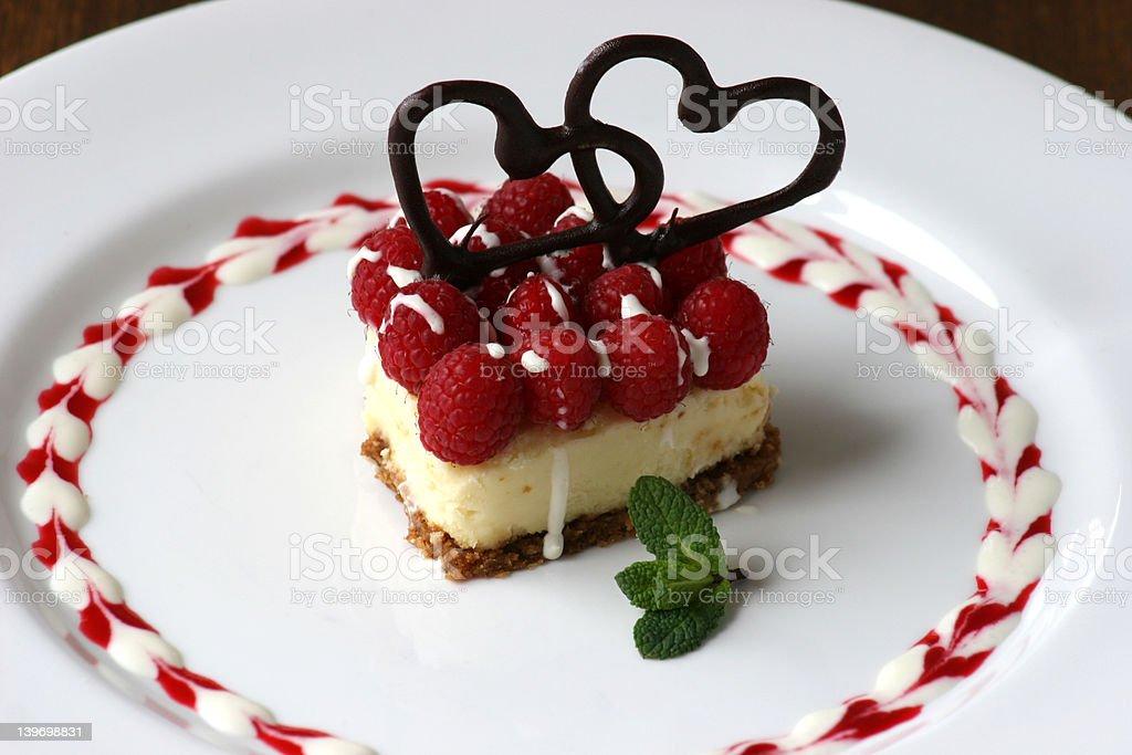 Valenines Day Dessert royalty-free stock photo