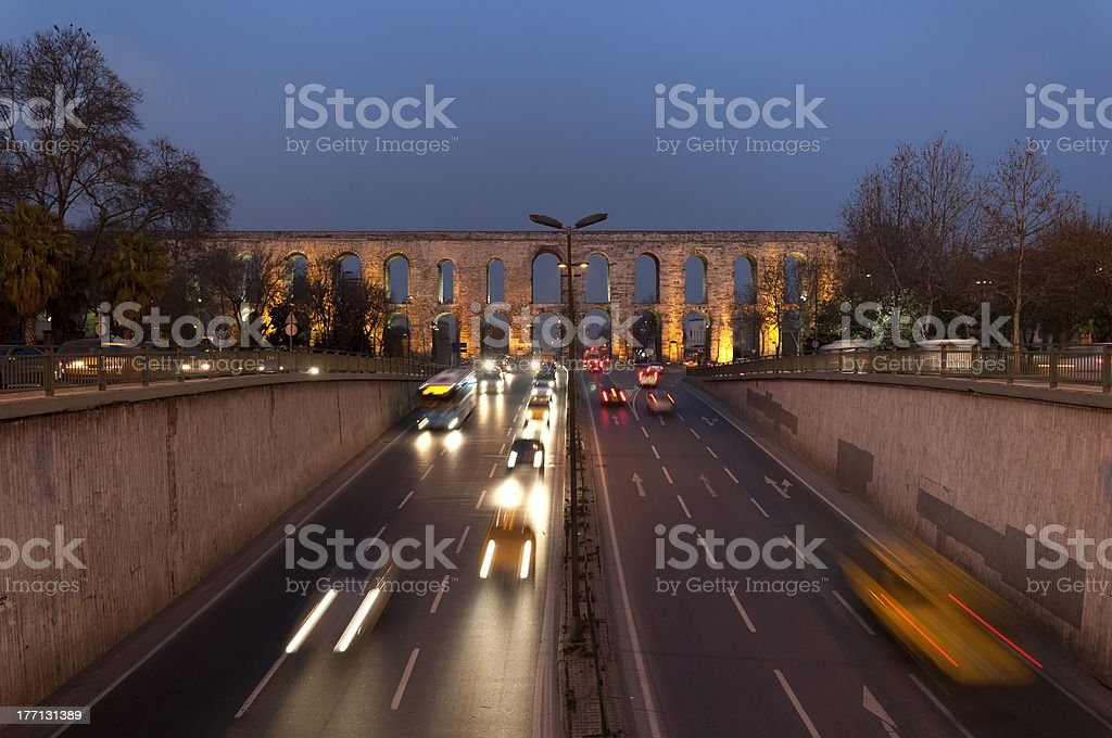 Valens Aqueduct (Bozdogan Kemeri) In Istanbul, Turkey stock photo