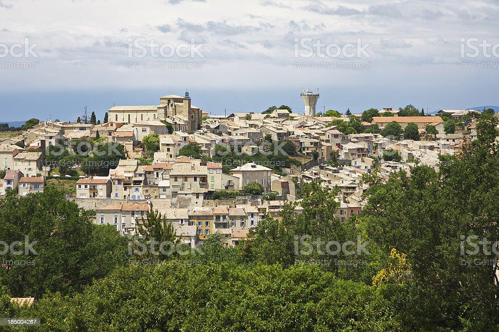 Valensole cityscape.  Alpes-de-Haute-Provence. France. stock photo