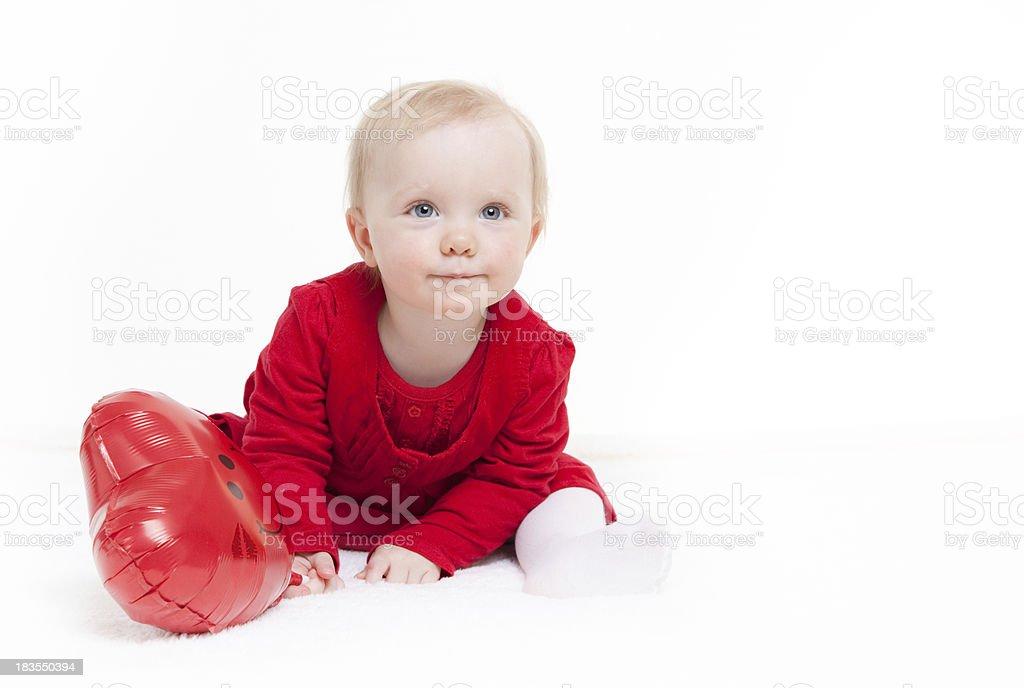 Valentine baby girl royalty-free stock photo