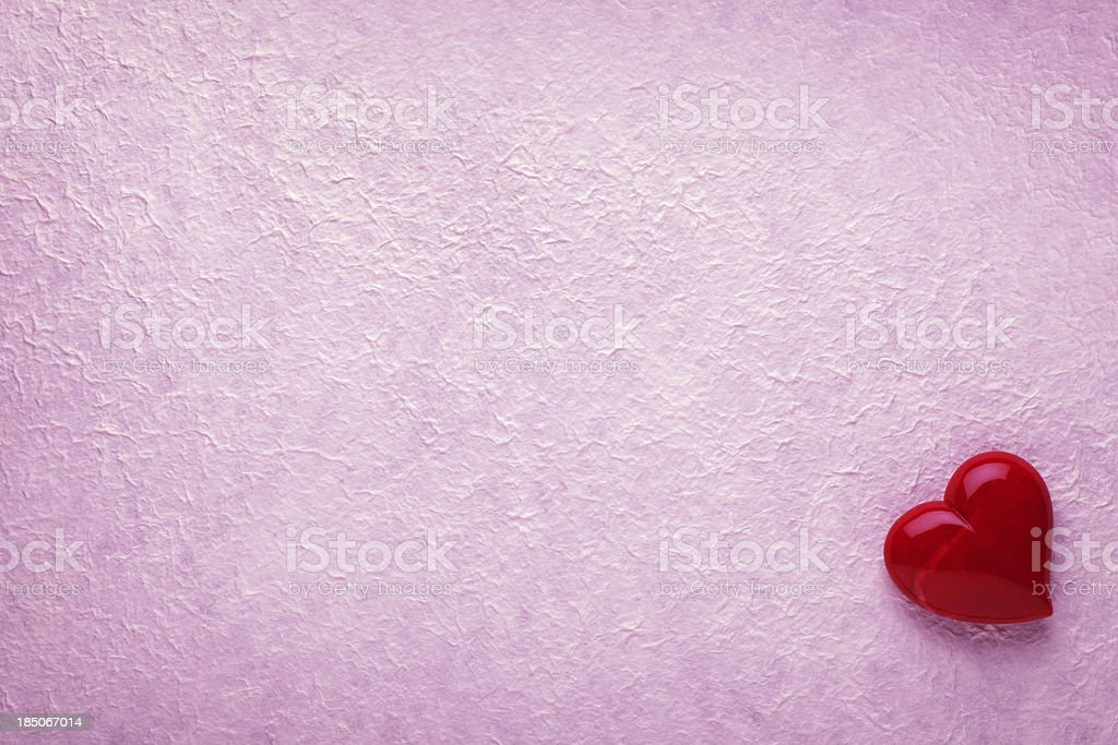 Valentine Background with Red Heart royalty-free stock photo