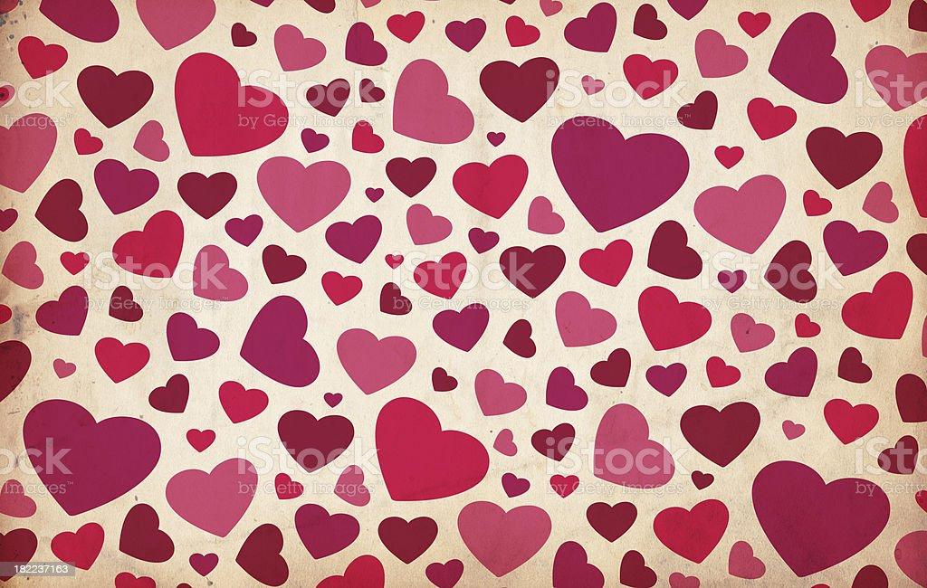 Valentine Background; XXXL Hearts stock photo