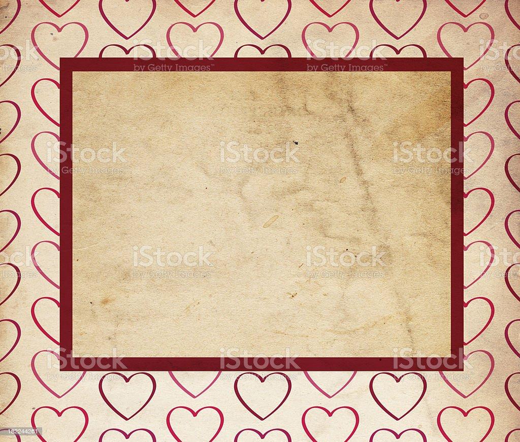 Valentine Background; XXXL Hearts royalty-free stock photo