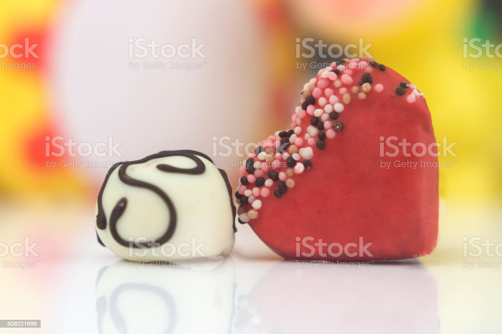 Valentine cake pops stock photo