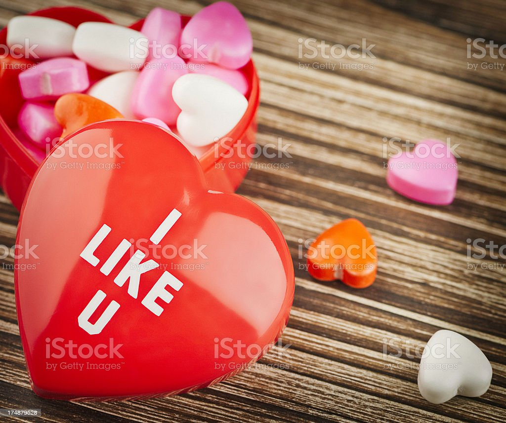 Valentine Candy and Message royalty-free stock photo