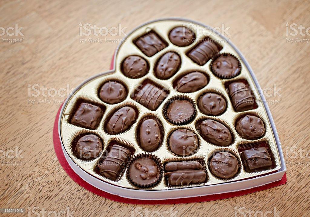 Valentine Candy, Chocolates royalty-free stock photo