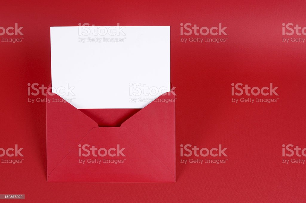 Valentine card or love letter stock photo