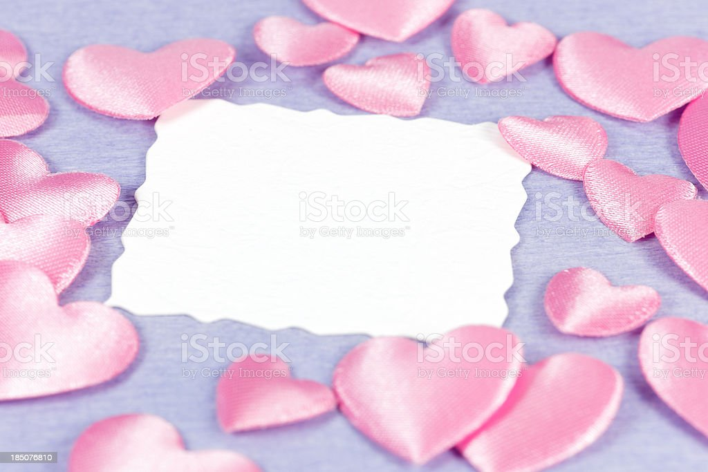 valentine card with hearts and copy space royalty-free stock photo
