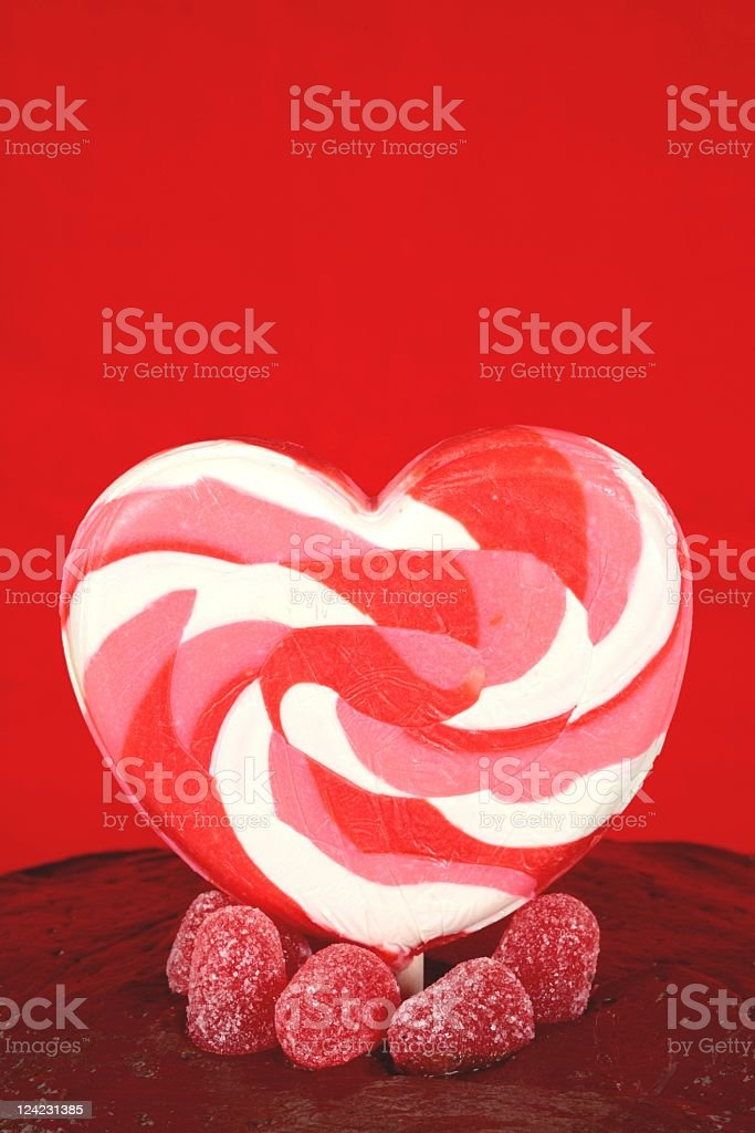 Valentine Chocolate Cake stock photo