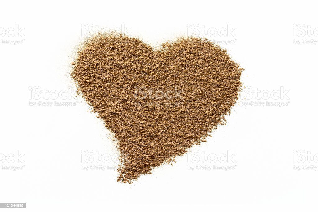 Valentine cinnamon heart royalty-free stock photo