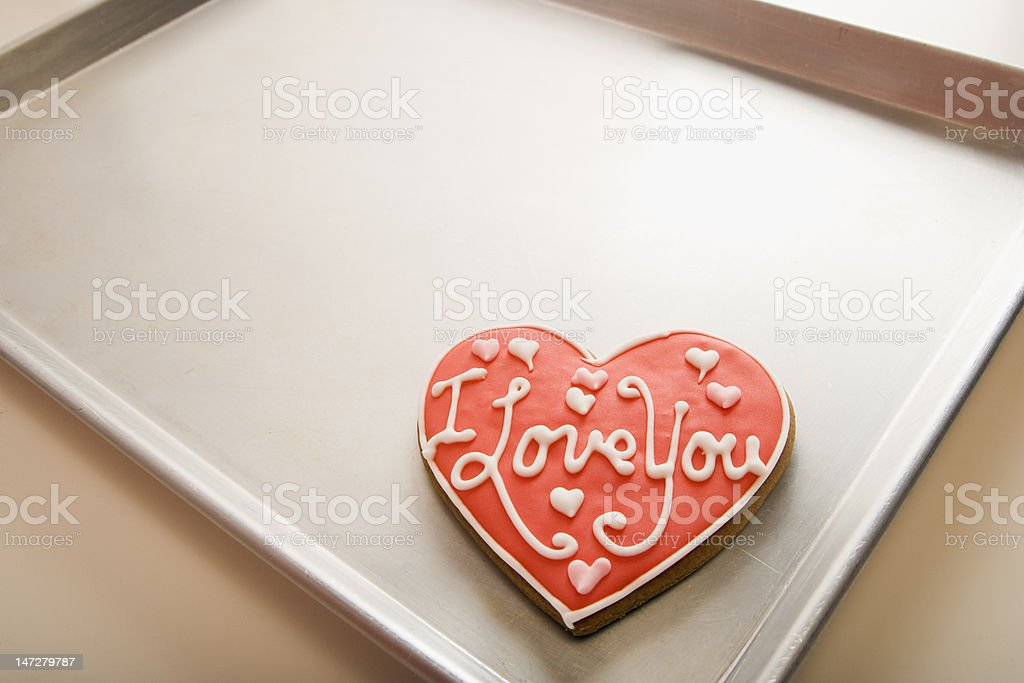 Valentine Cookie on Tray royalty-free stock photo