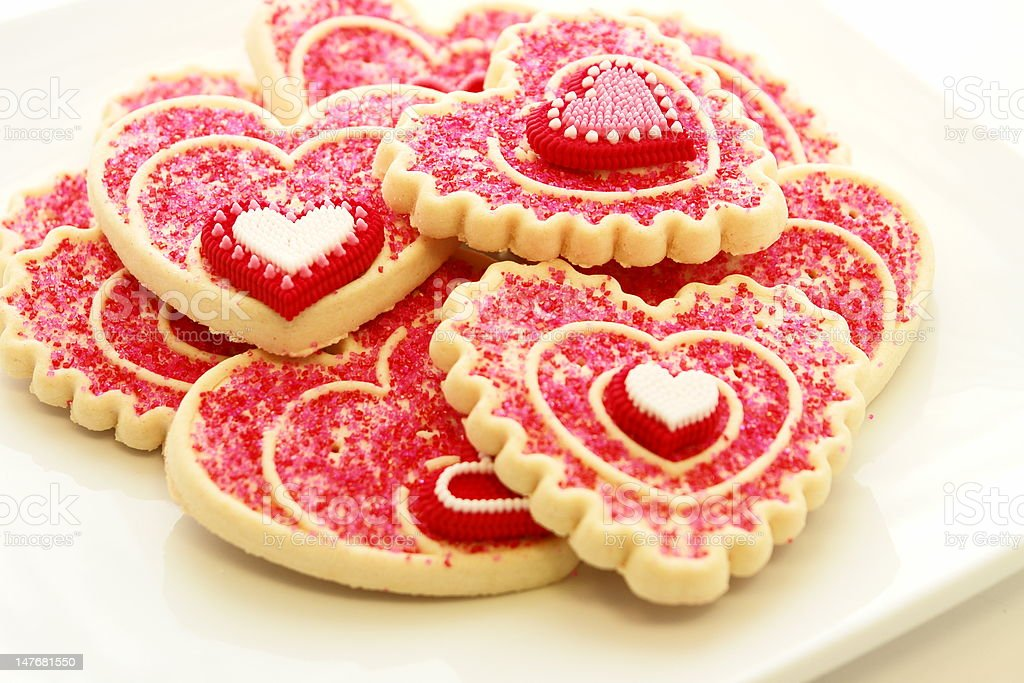 Valentine cookies royalty-free stock photo