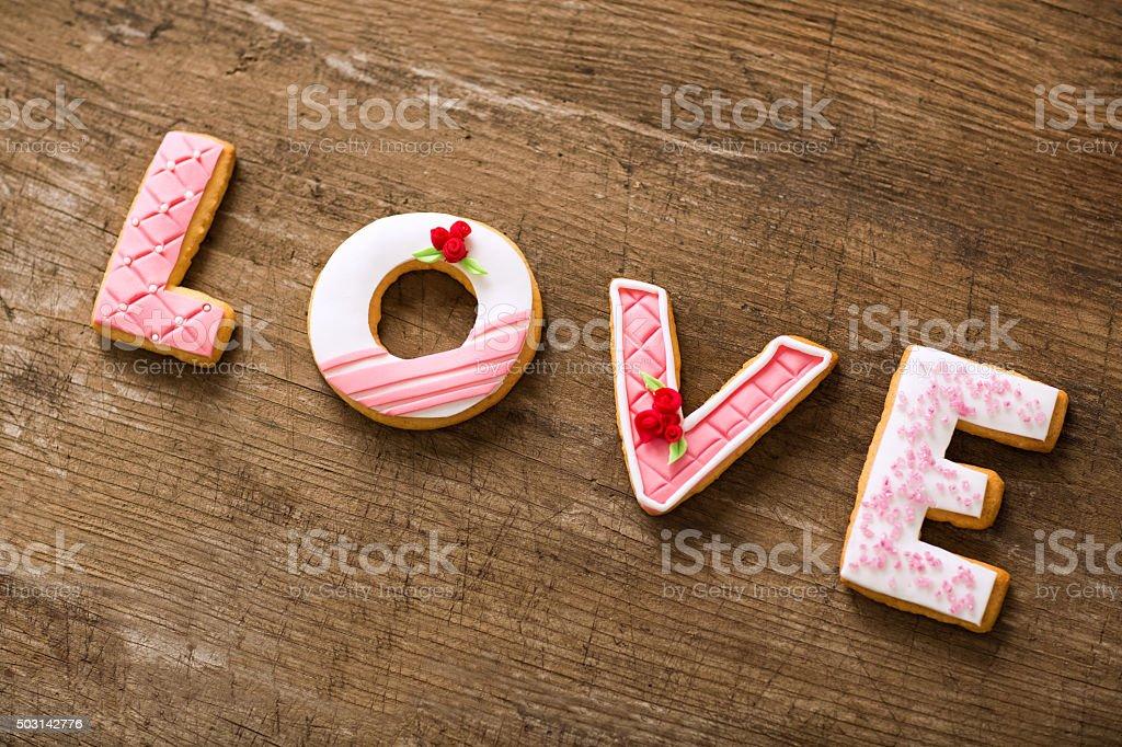 Valentine cookies stock photo