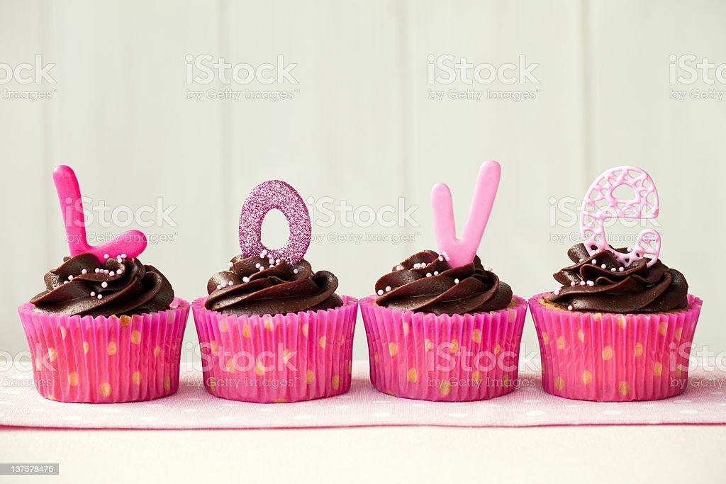 Valentine cupcakes royalty-free stock photo