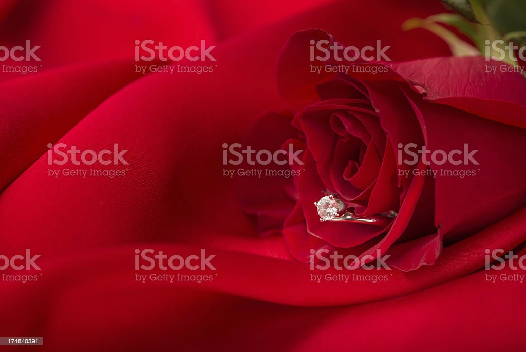 Valentine Day and Engagement Ring royalty-free stock photo