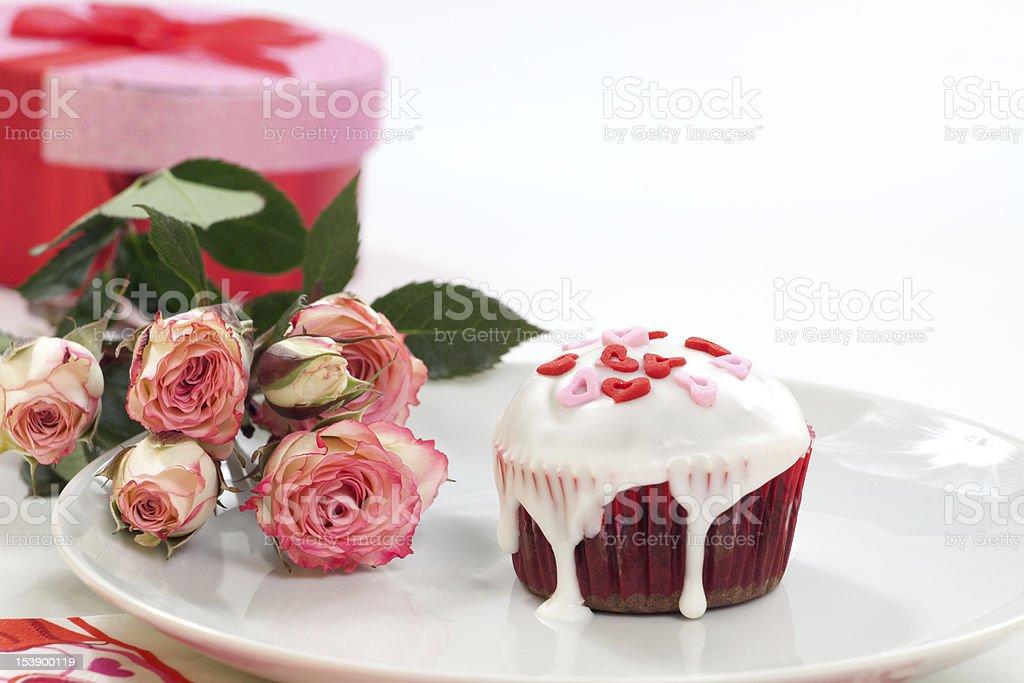 Valentine Day Cupcake royalty-free stock photo