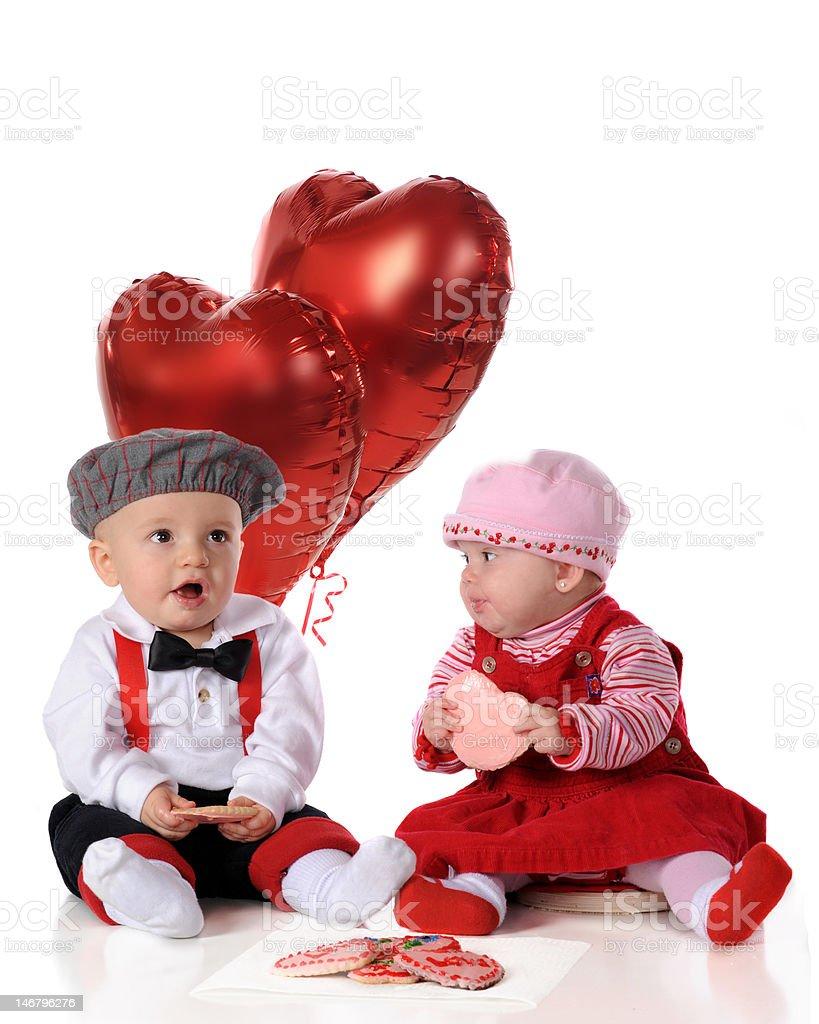 Valentine Day Snacks stock photo