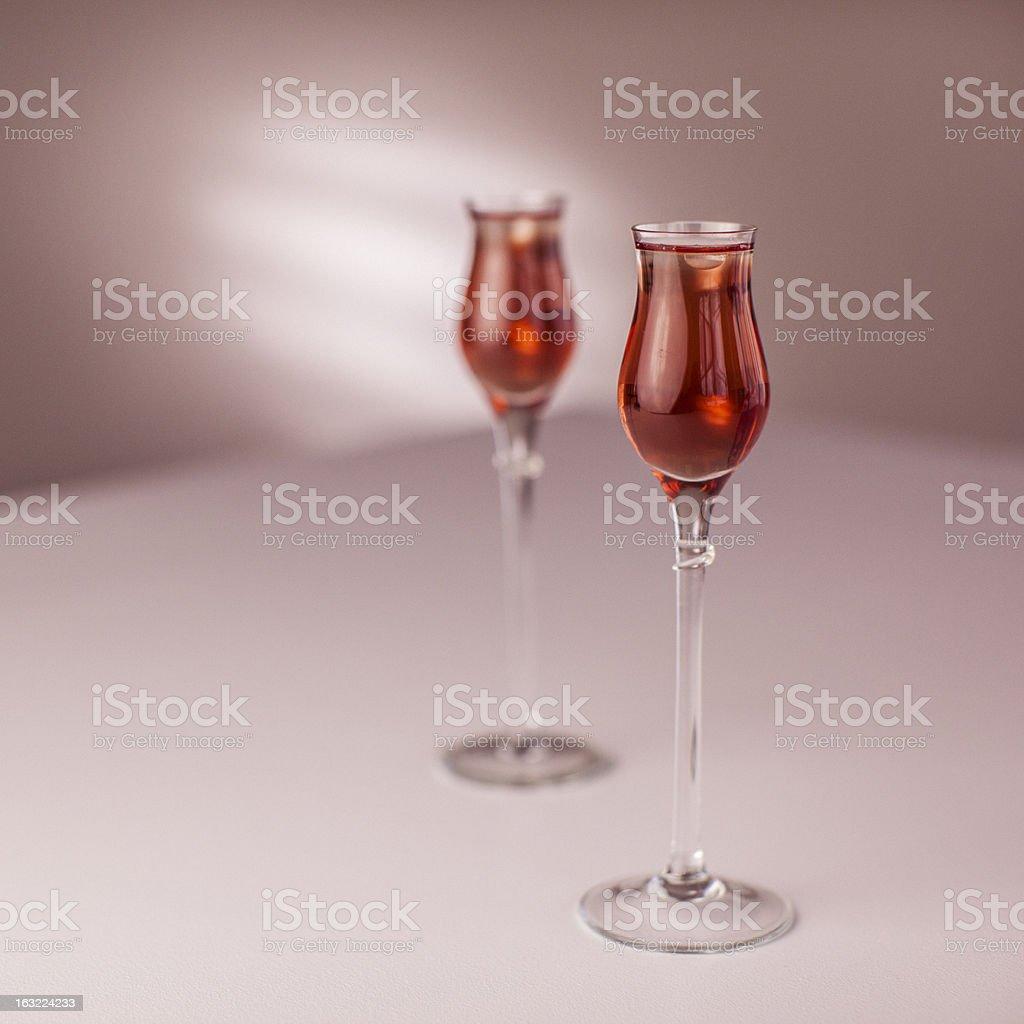Valentine drinks stock photo