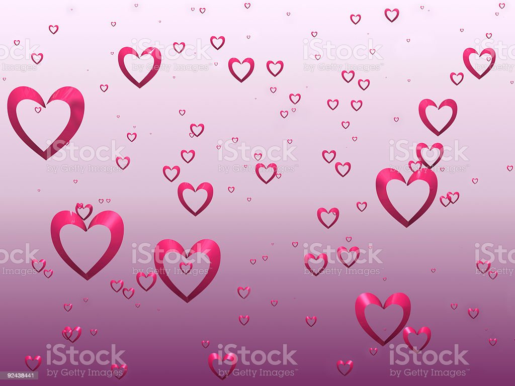 Valentine Flock (3D) royalty-free stock photo