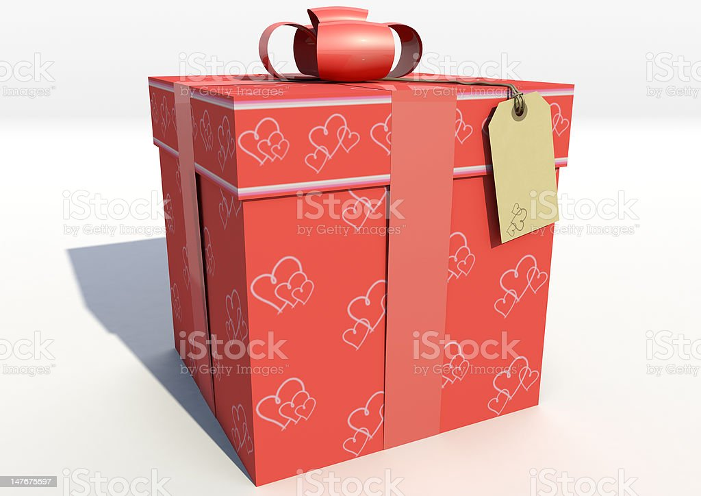 Valentine Gift Box Red royalty-free stock photo