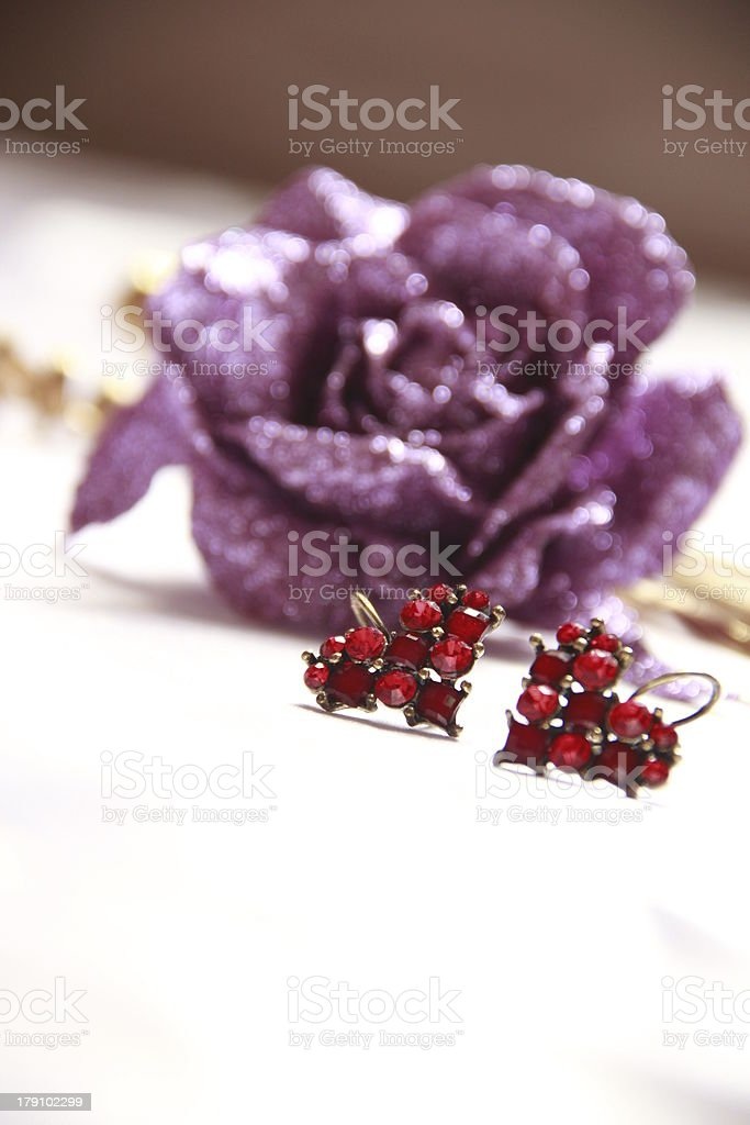 valentine gift earrings royalty-free stock photo