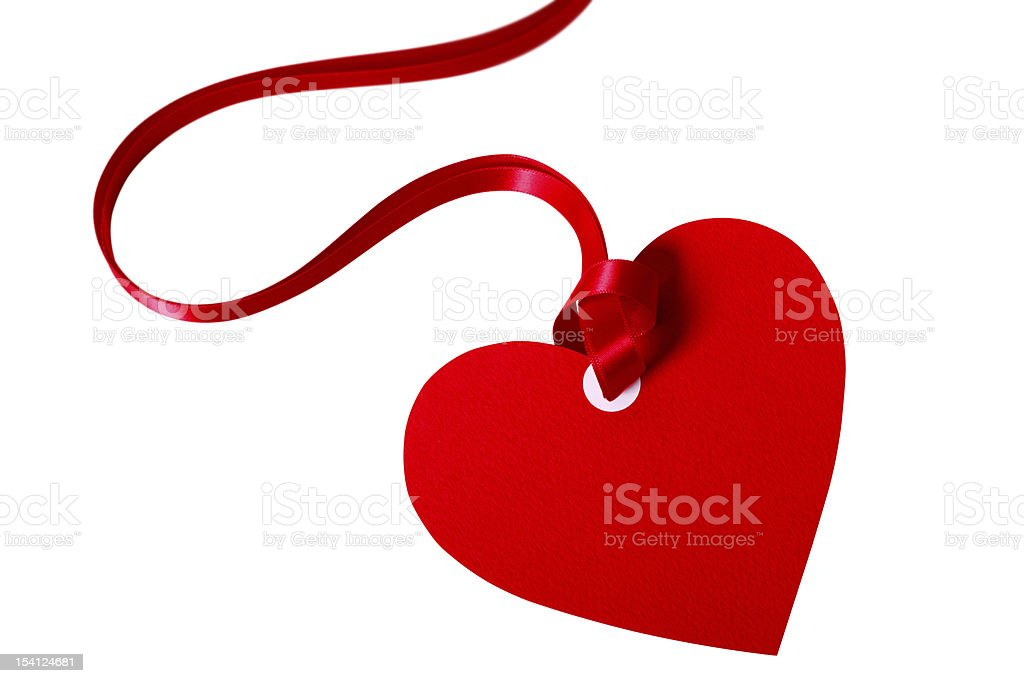 Valentine gift tag royalty-free stock photo