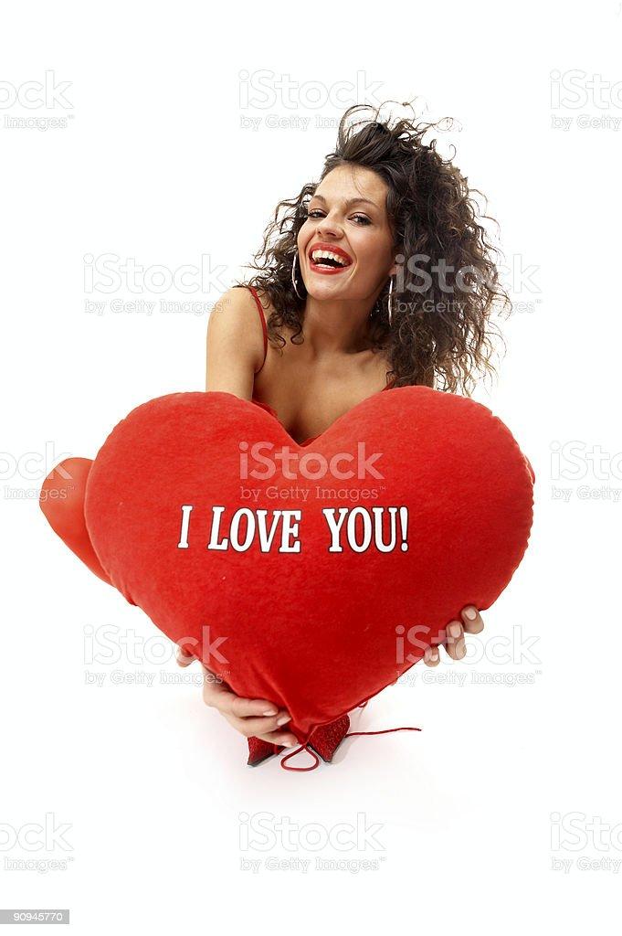 Valentine girl royalty-free stock photo