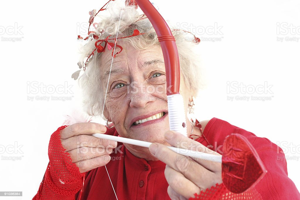 Valentine Granny stock photo