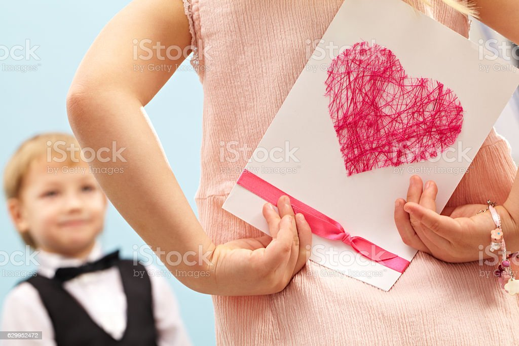 Valentine greeting card stock photo