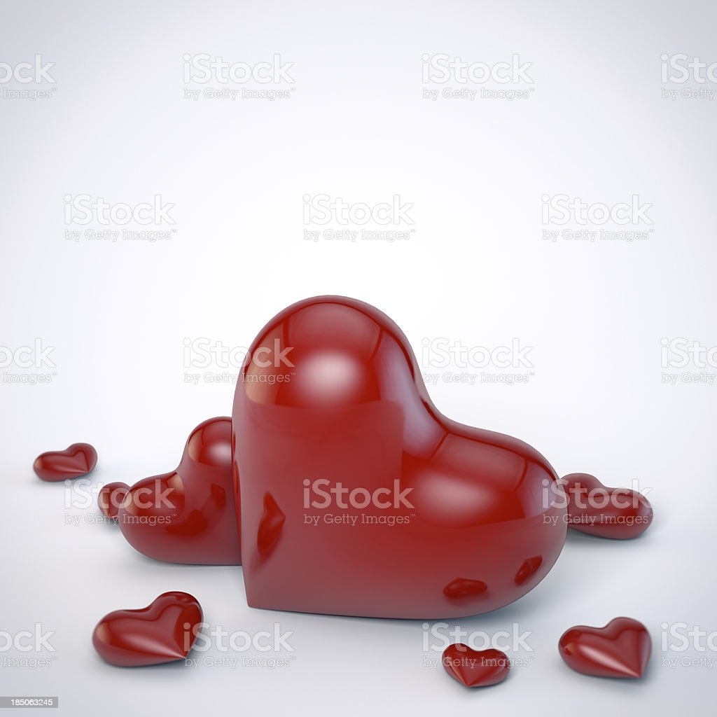 Valentine greetings card royalty-free stock photo