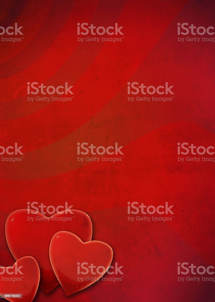 Valentine grunge frame royalty-free stock photo