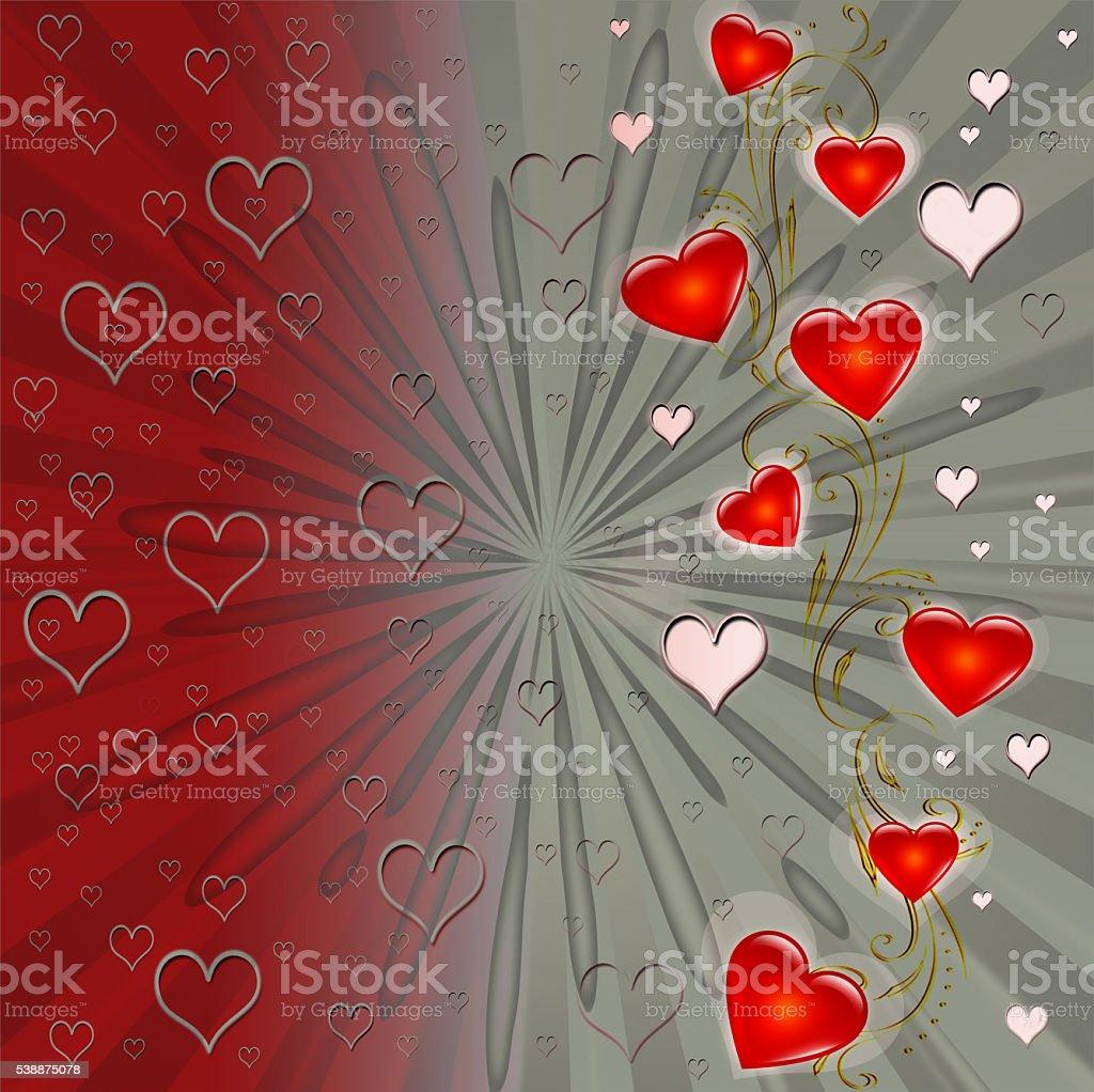 Valentine heart background stock photo