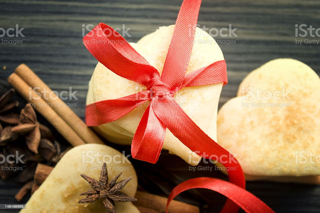 Valentine heart cookies royalty-free stock photo