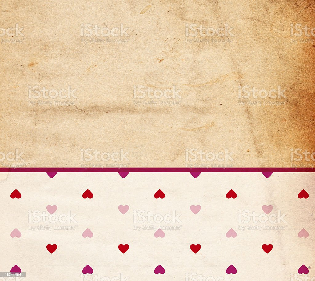 Valentine Heart Paper Background - XXXL stock photo